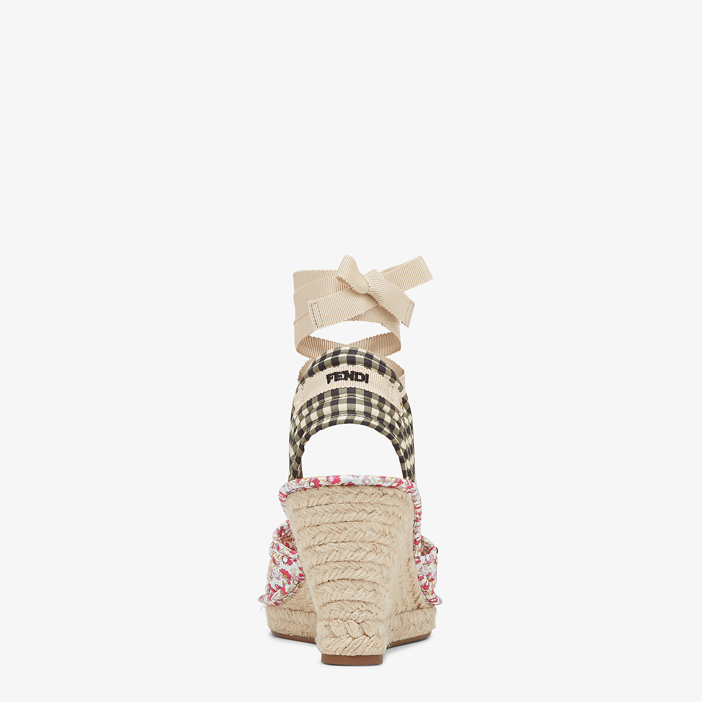 FENDI ESPADRILLES - Multicolor cotton espadrilles - view 3 detail