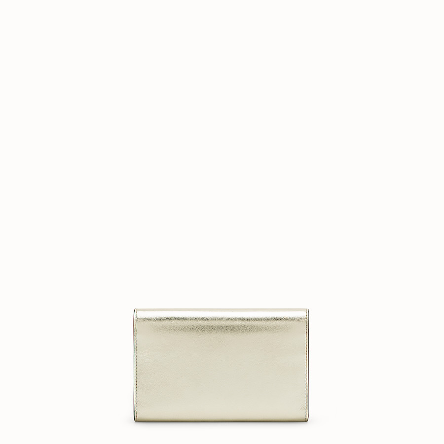 FENDI WALLET ON CHAIN - Metallic leather mini-bag - view 3 detail