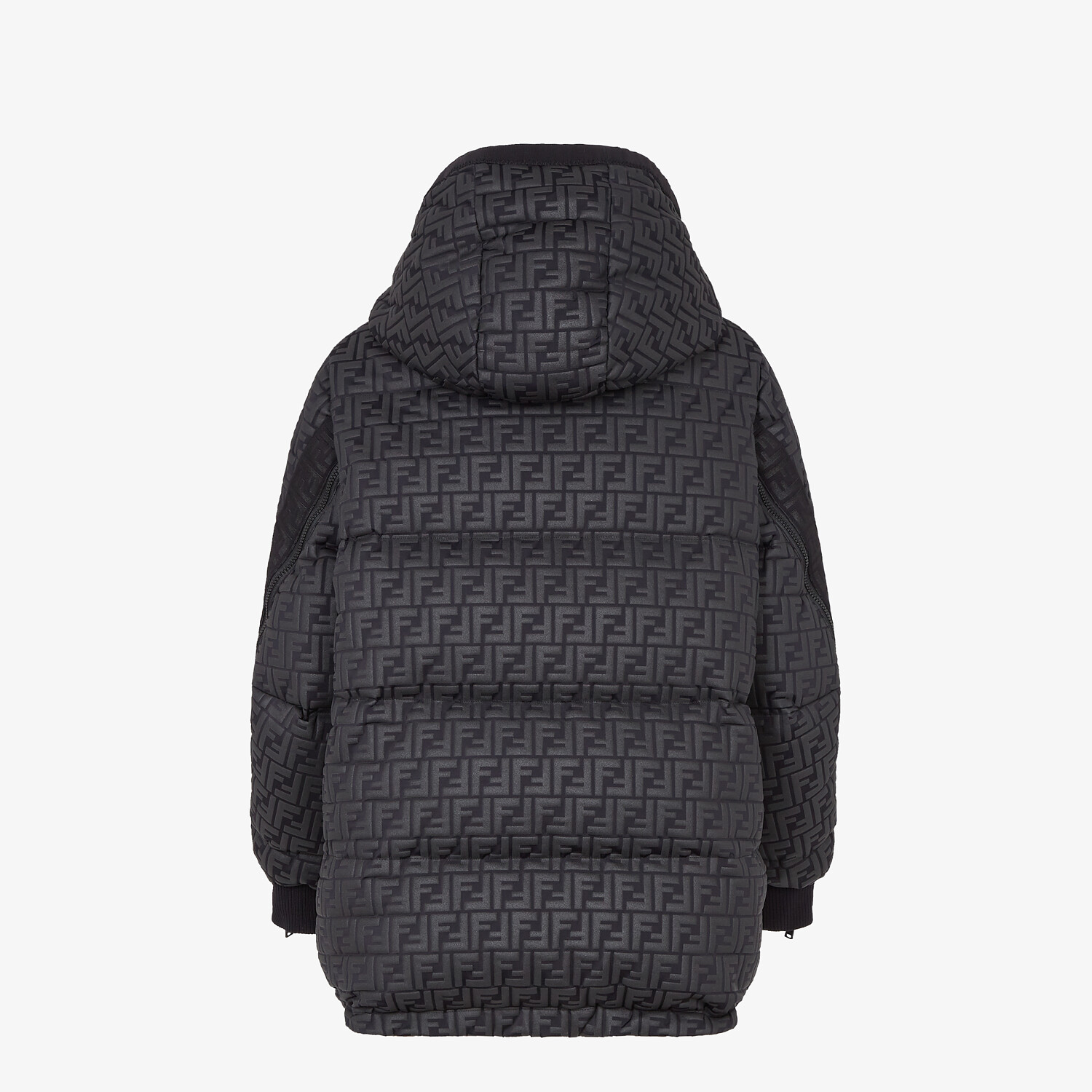 FENDI SKI JACKET - Ski jacket in black nylon - view 2 detail