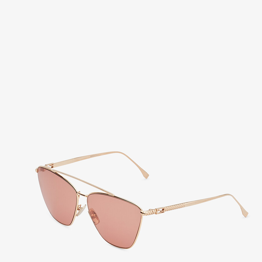 FENDI BAGUETTE - Rose-gold-colored sunglasses - view 2 detail