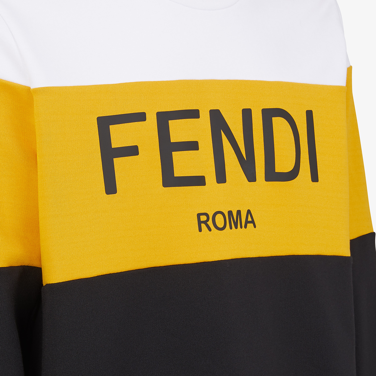 FENDI SWEATSHIRT - Multicolor cotton sweatshirt - view 3 detail