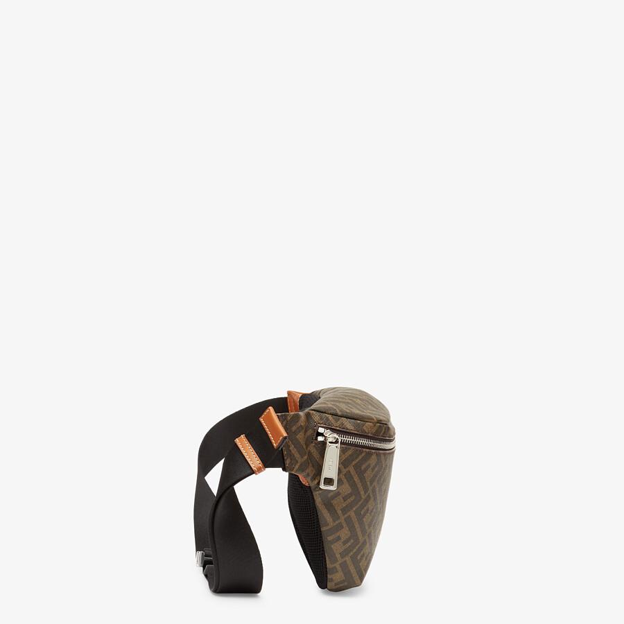 FENDI BELT BAG - Brown fabric belt bag - view 2 detail