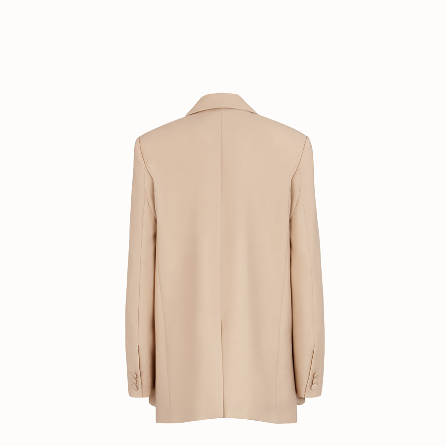 FENDI JACKET - Beige mohair blazer - view 2 detail