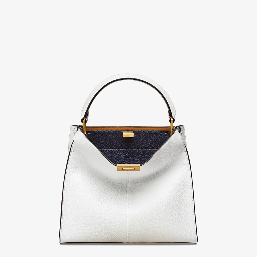 FENDI PEEKABOO X-LITE MEDIUM - White leather bag - view 2 detail