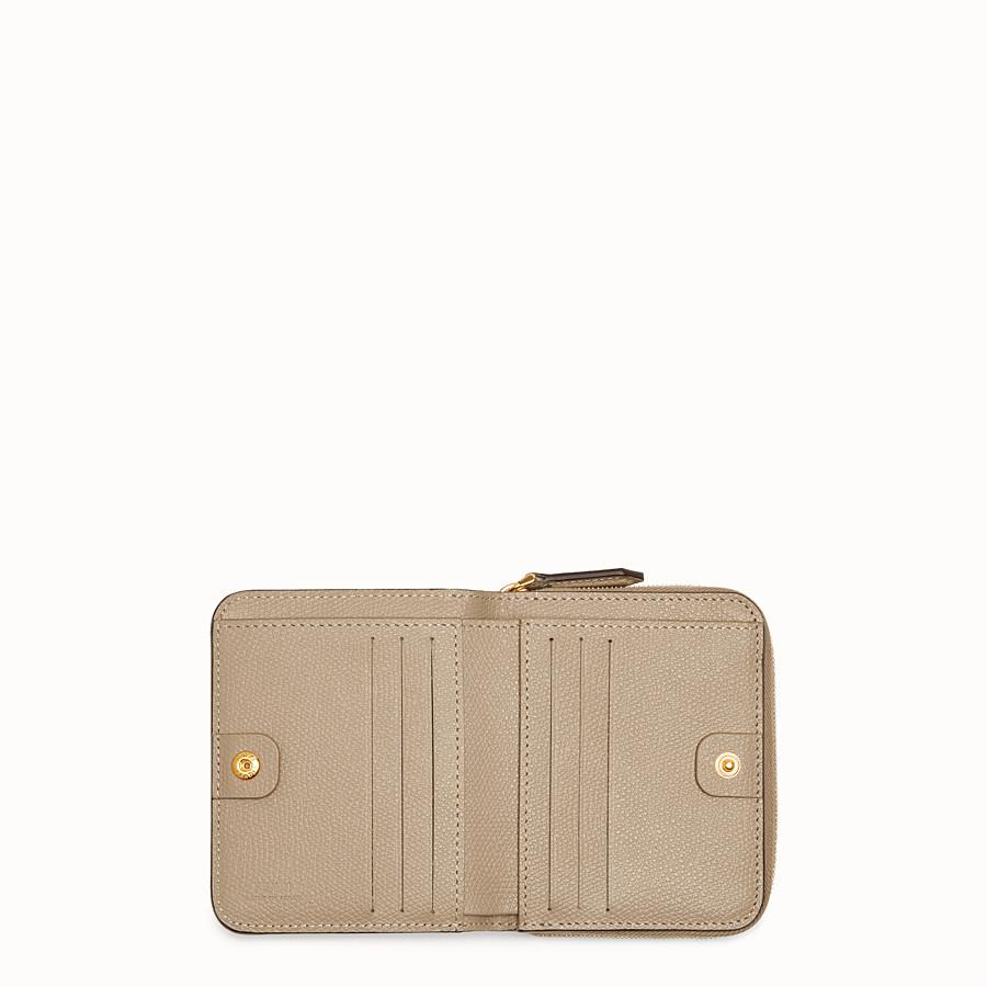 FENDI MEDIUM ZIP-AROUND - Grey leather wallet - view 4 detail