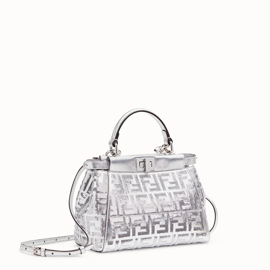 FENDI PEEKABOO ICONIC MINI - Borsa Fendi Prints On in pelle - vista 2 dettaglio