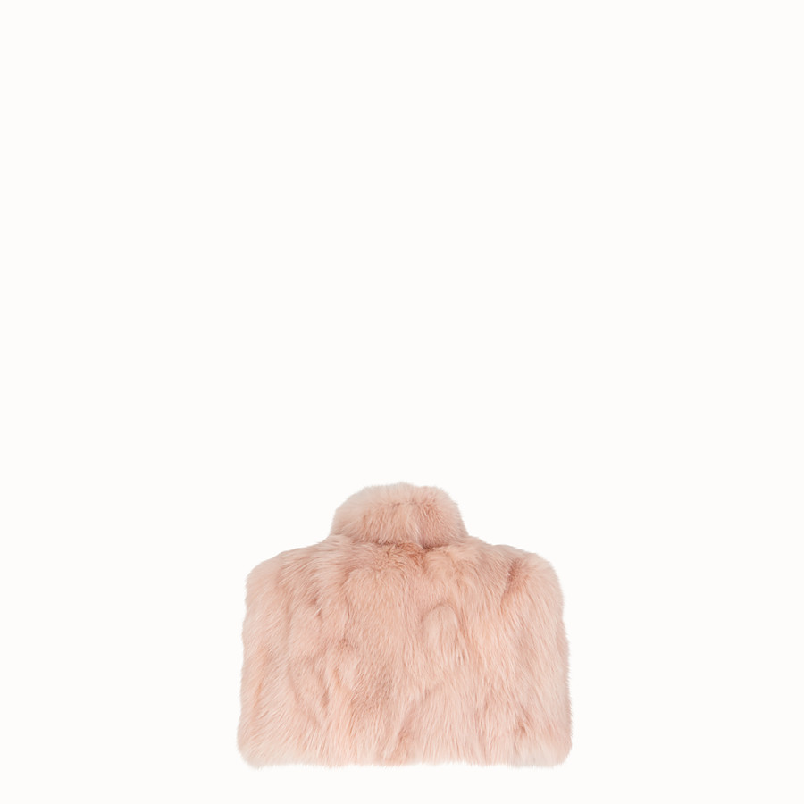 FENDI CAPE - Pink fur cape - view 2 detail