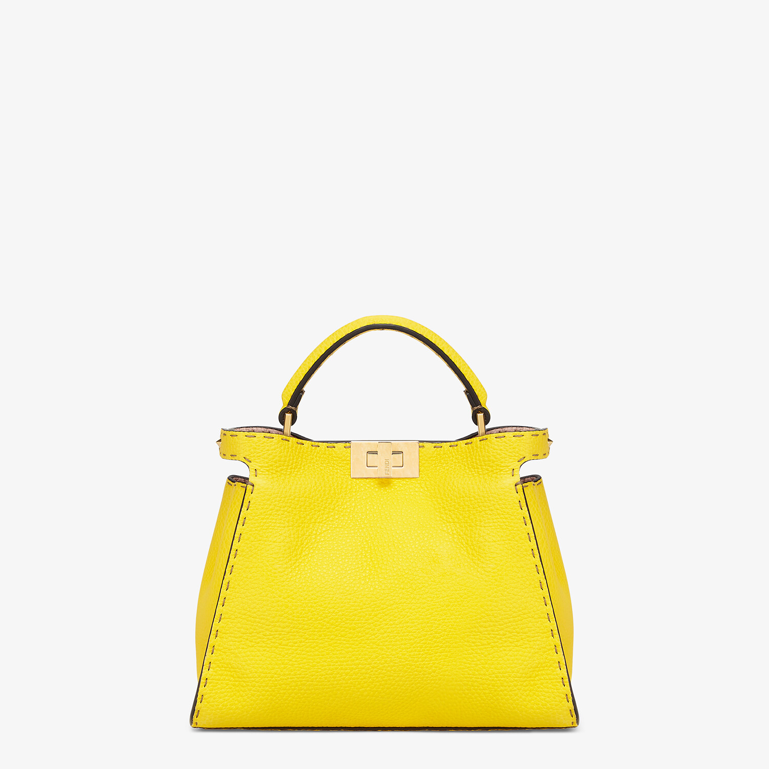 FENDI PEEKABOO ICONIC ESSENTIALLY - Yellow Cuoio Romano leather bag - view 1 detail