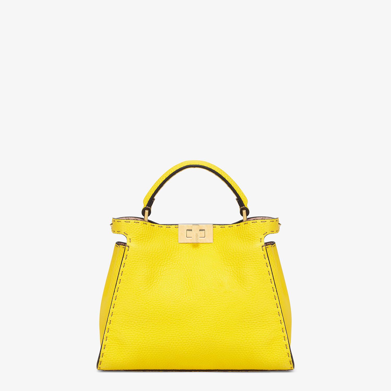 FENDI PEEKABOO ICONIC ESSENTIALLY - Yellow Cuoio Romano leather bag - view 1 detail