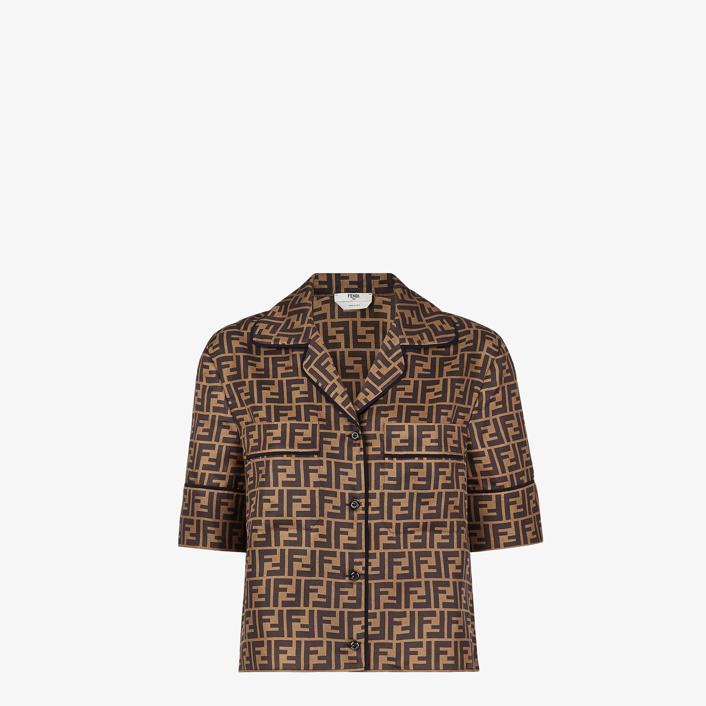 FENDI PAJAMAS - Brown silk pajamas - view 2 detail
