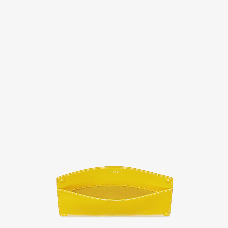 FENDI PEEKABOO ISEEU POCKET - Yellow leather accessory pocket - view 3 detail