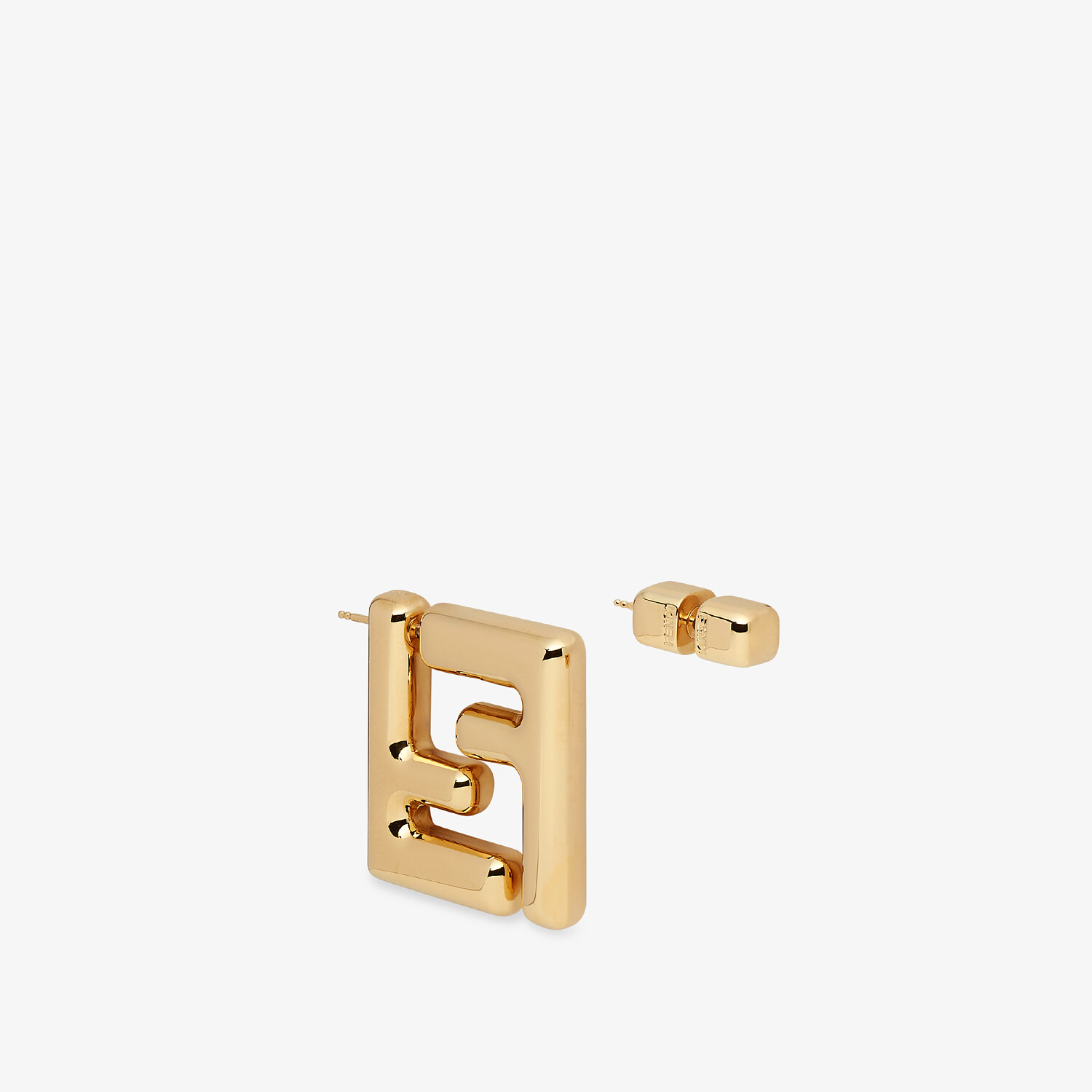 FENDI SMALL FF EARRINGS - Gold-color earrings - view 2 detail