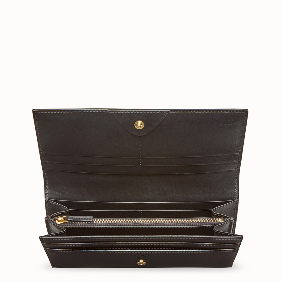 FENDI CONTINENTAL - Black leather wallet - view 4 detail