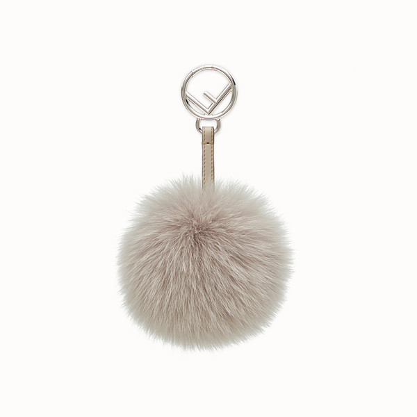 FENDI POM-POM CHARM - Charm in pearl-gray fur - view 1 small thumbnail