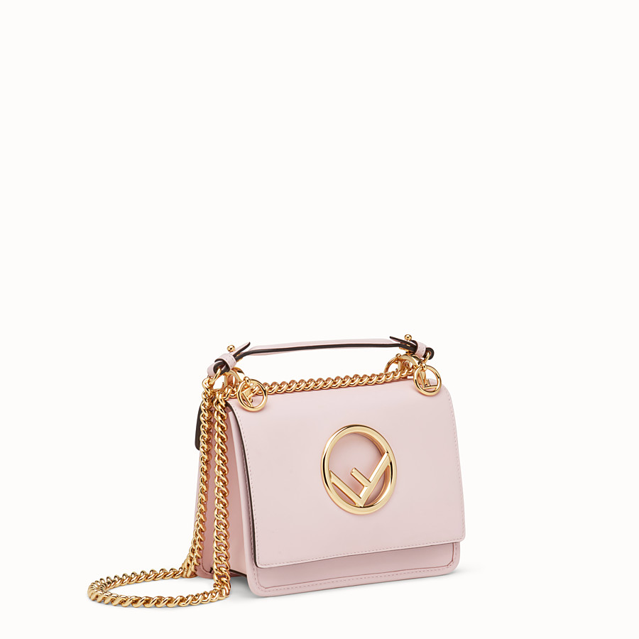 FENDI KAN I F SMALL - Pink leather mini-bag - view 2 detail
