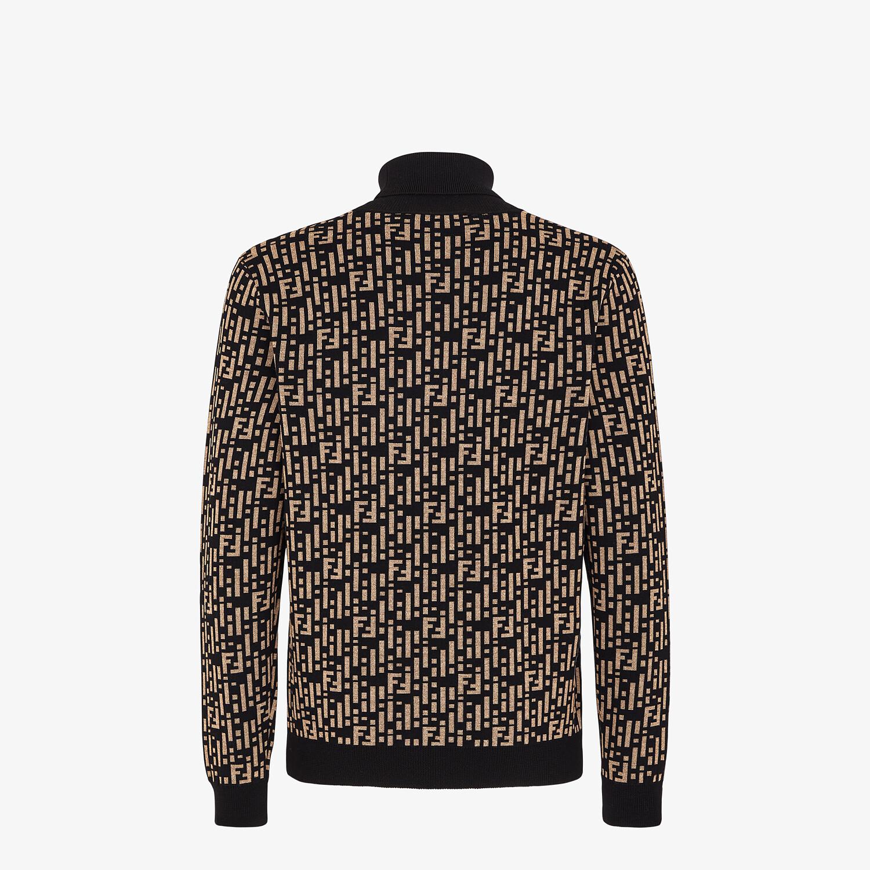 FENDI SWEATER - Multicolor wool sweater - view 2 detail