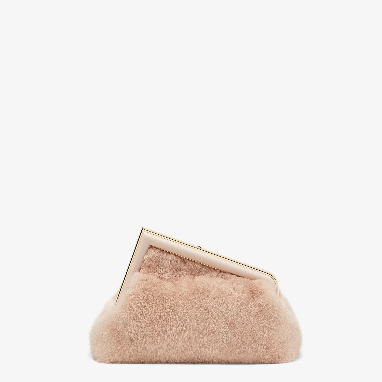 FENDI FENDI FIRST SMALL - Pink mink bag - view 3 detail