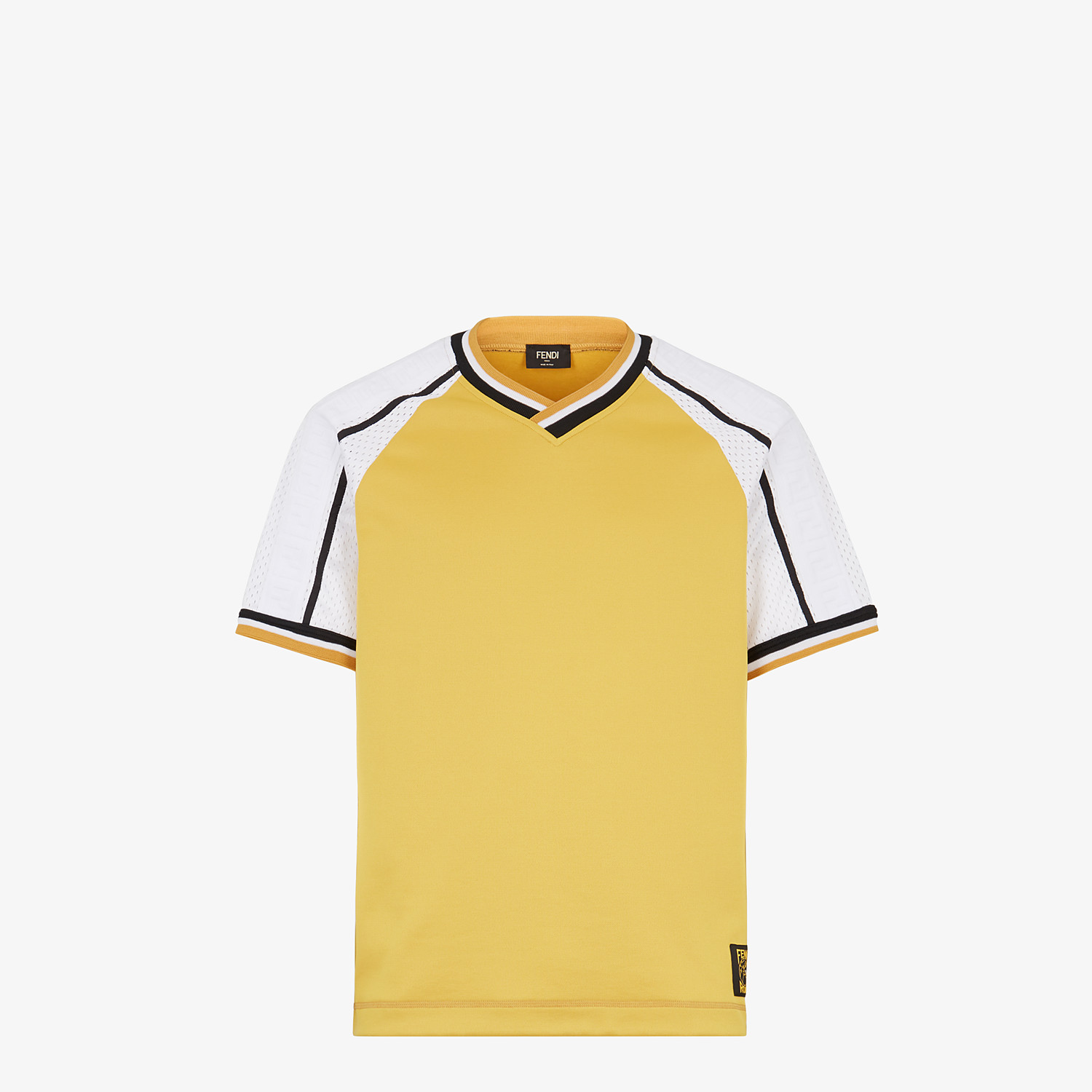 FENDI T-SHIRT - Yellow acetate T-shirt - view 1 detail