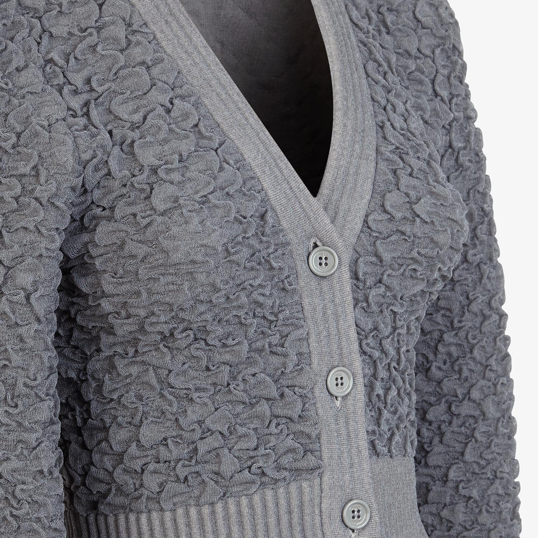 FENDI CARDIGAN - Grey viscose cardigan - view 3 detail