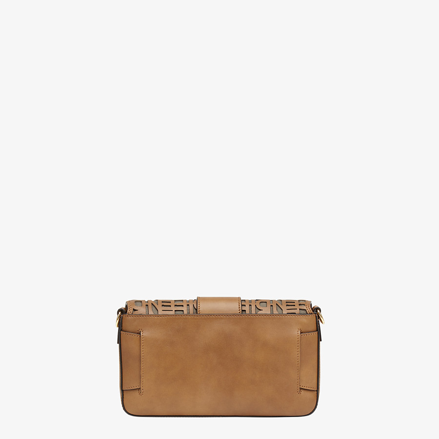 FENDI BAGUETTE - Beige leather bag - view 4 detail