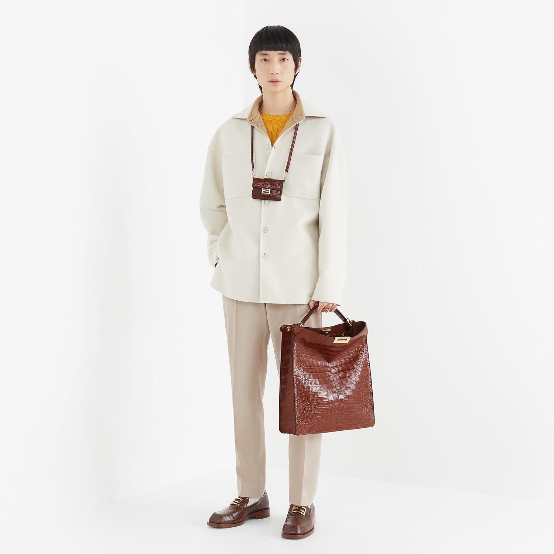 FENDI JACKET - White cashmere blouson - view 5 detail