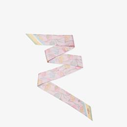 FENDI WRAPPY - Multicolour silk bandeau - view 1 thumbnail