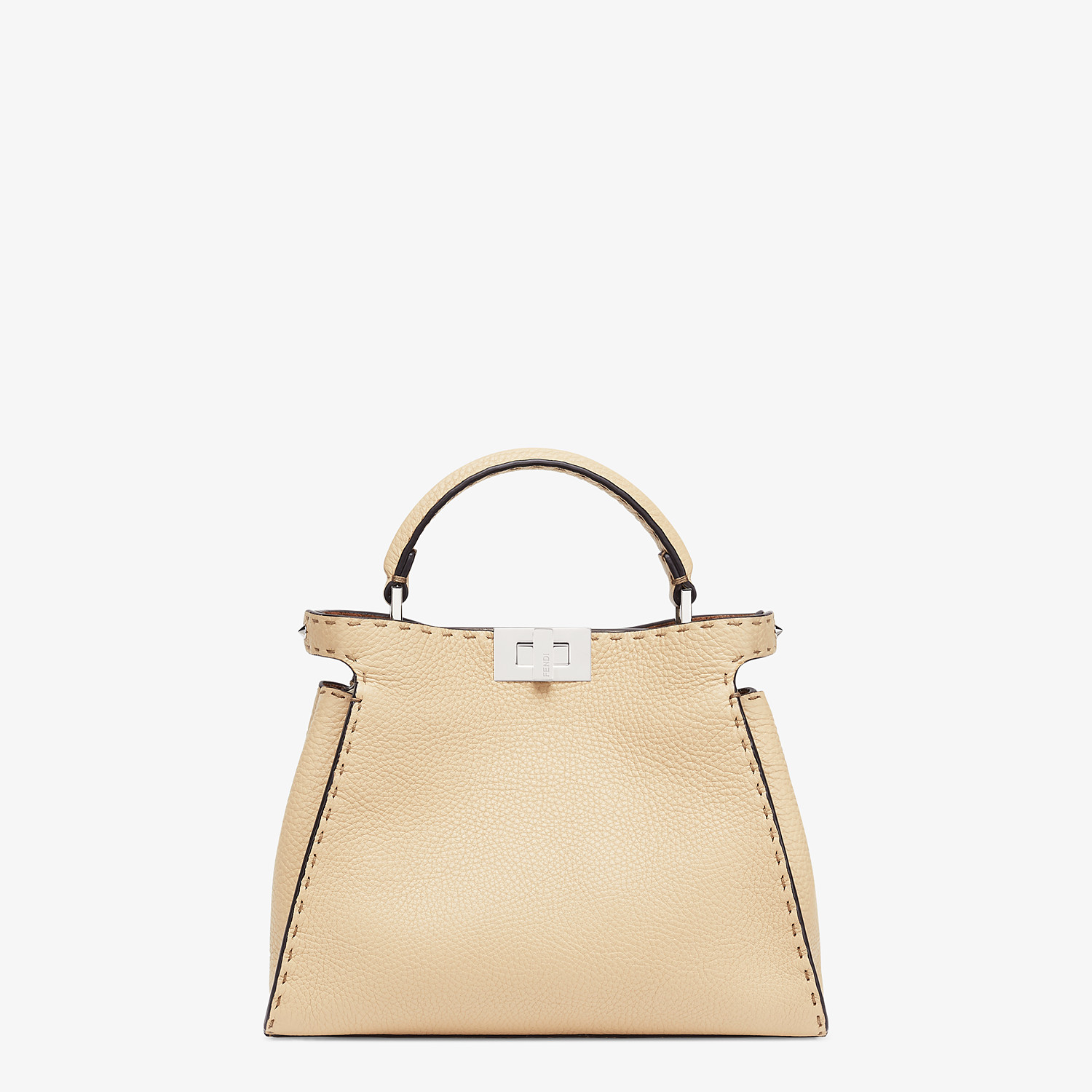 FENDI PEEKABOO ICONIC ESSENTIALLY - Beige Cuoio Romano leather bag - view 1 detail
