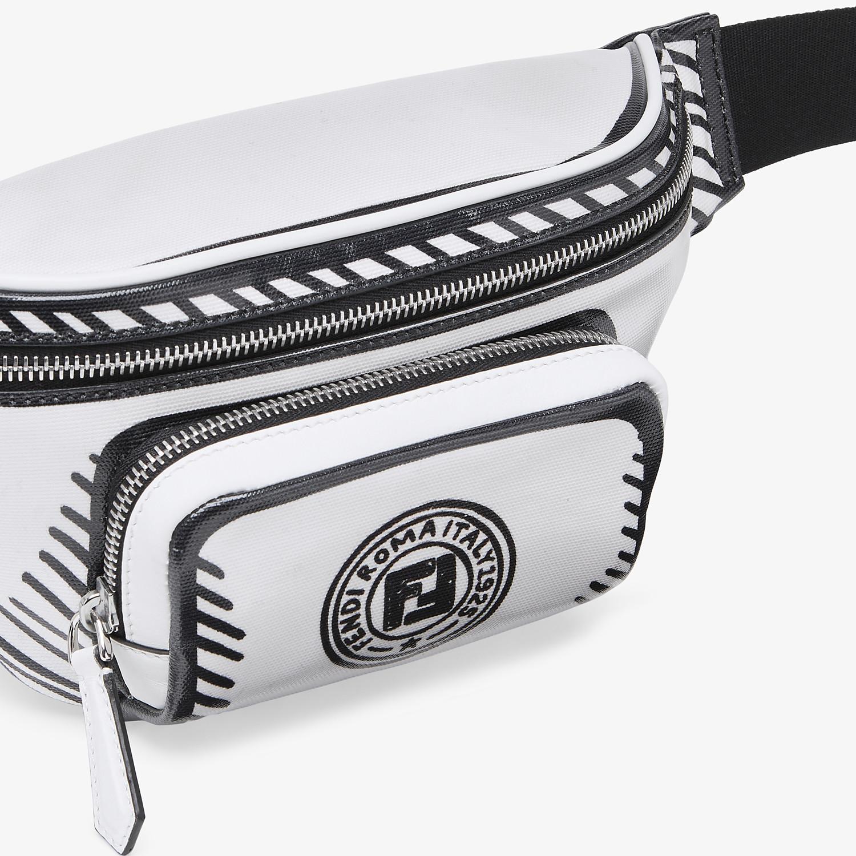 FENDI BELT BAG - White canvas belt bag - view 5 detail