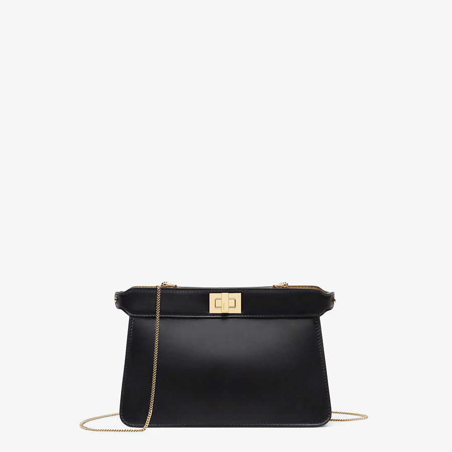 FENDI PEEKABOO I SEE U POCHETTE - Black nappa leather bag - view 1 detail