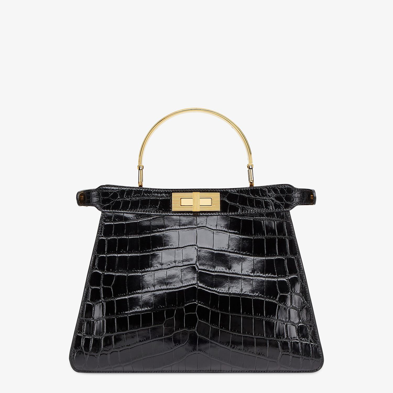 FENDI PEEKABOO ISEEU MEDIUM - Black crocodile leather bag - view 5 detail