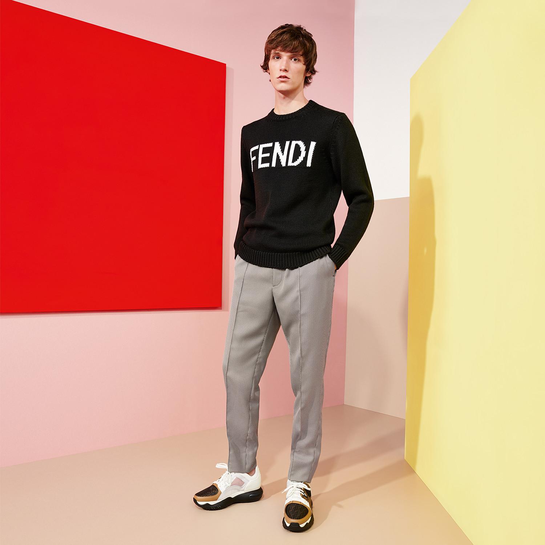 FENDI PULLOVER - Black wool sweater - view 4 detail