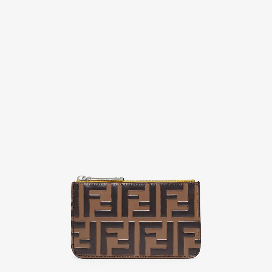 FENDI KEY CASE POUCH - Yellow leather pouch - view 1 detail
