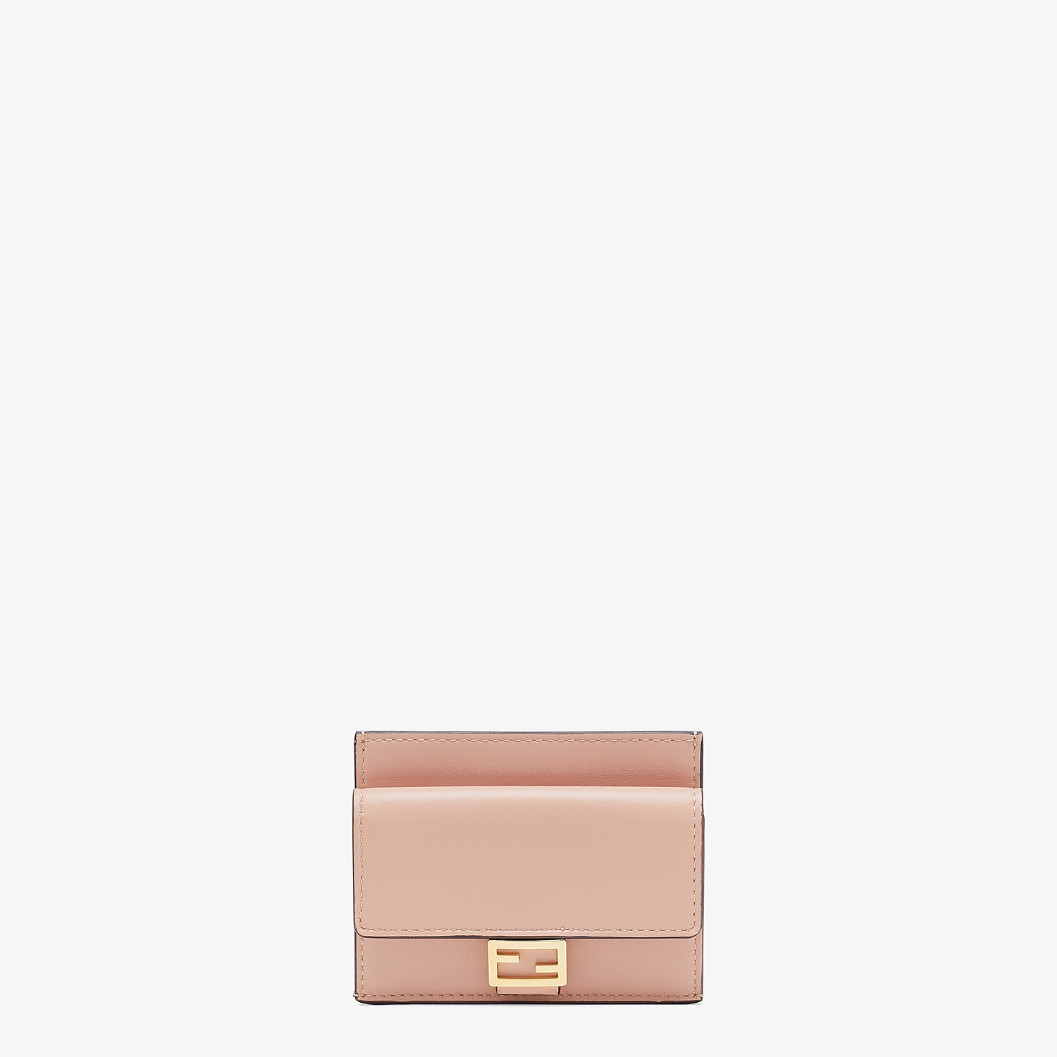 FENDI CARD HOLDER - Pink nappa leather card holder - view 1 detail