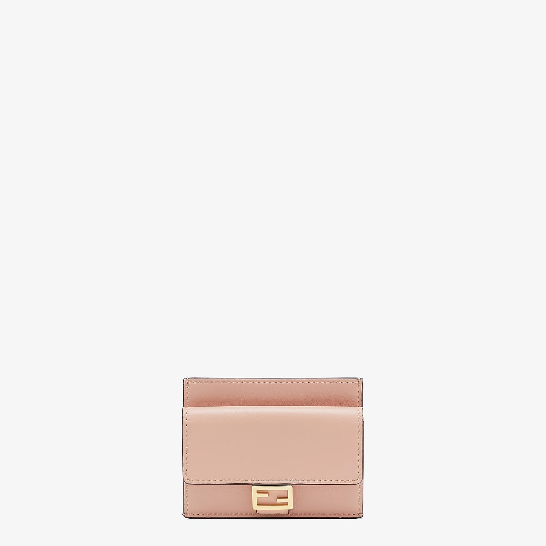 FENDI CARD HOLDER - Pink nappa leather cardholder - view 1 detail