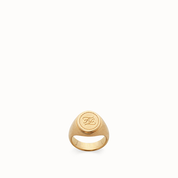 FENDI RING - Golden metal ring - view 1 small thumbnail