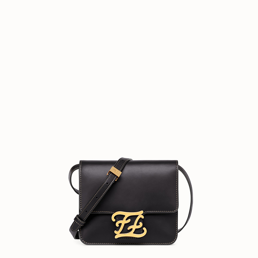 FENDI KARLIGRAPHY - Black leather bag - view 1 detail