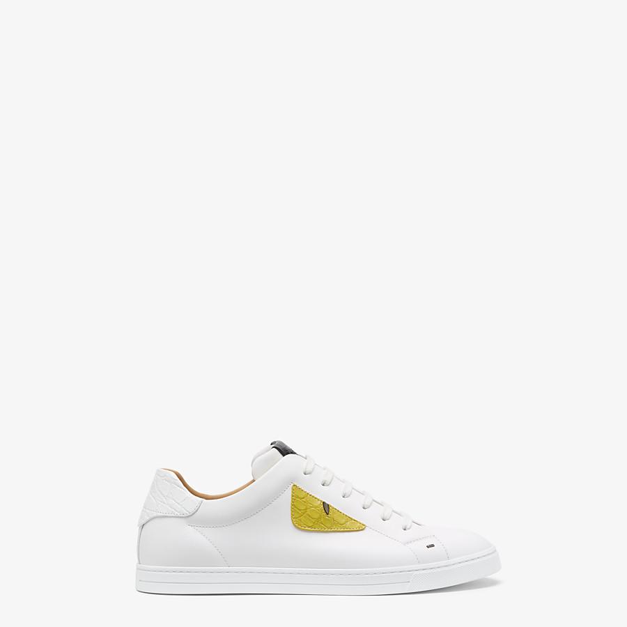 Sneakers N° 21 In Pelle Con Macro Cuciture A Vista E Logo