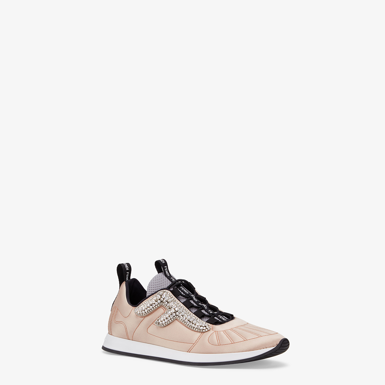 FENDI SNEAKERS - Pink satin sneakers - view 2 detail