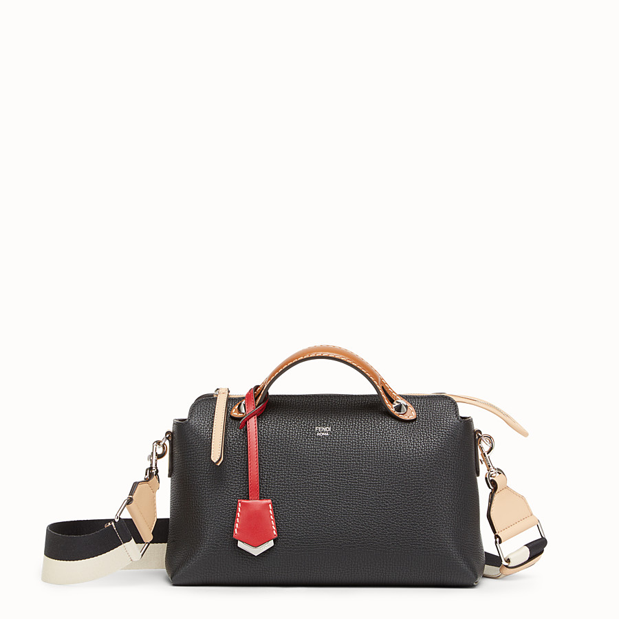 FENDI BY THE WAY REGULAR - Black leather Boston bag - view 1 detail