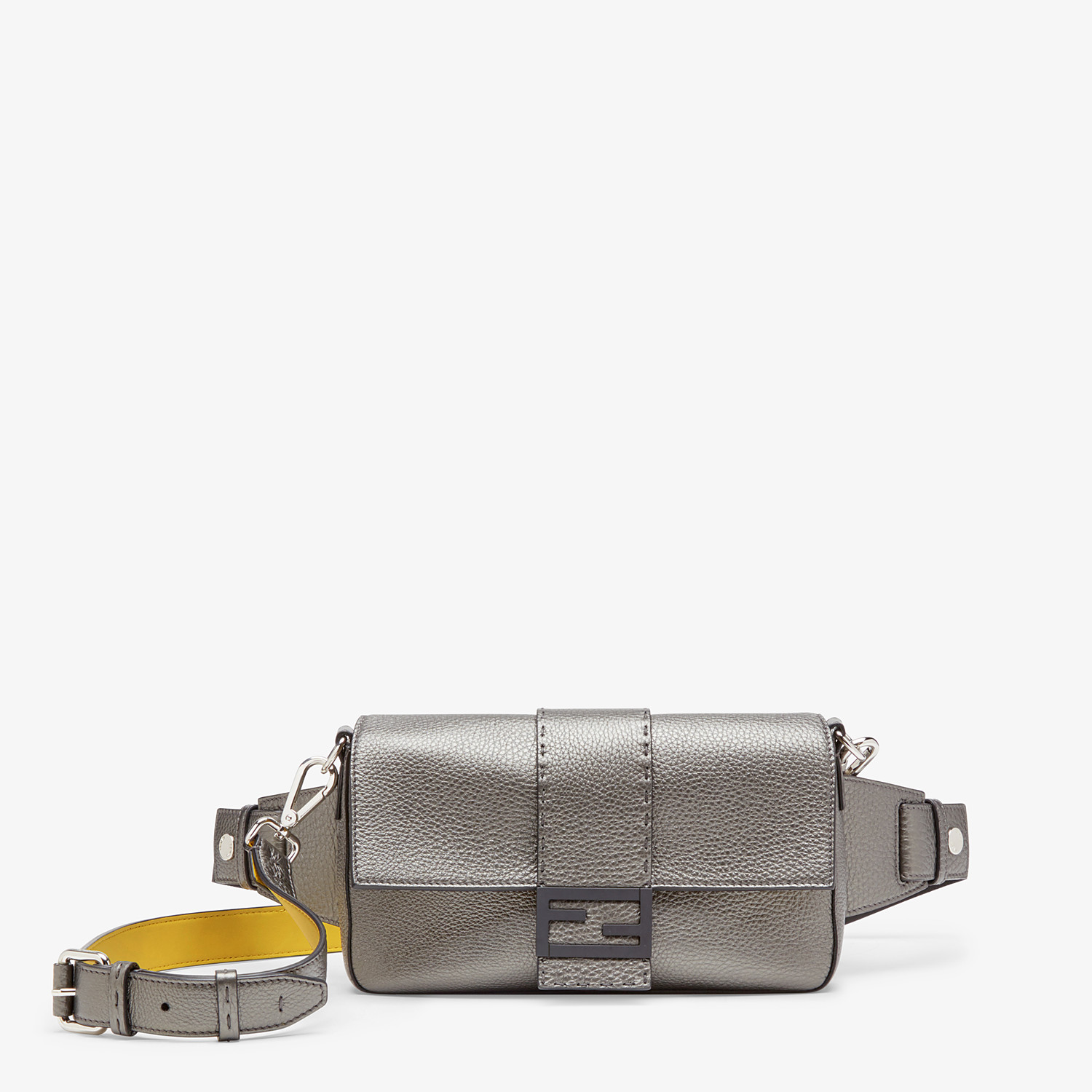 FENDI BAGUETTE - Grey leather bag - view 1 detail
