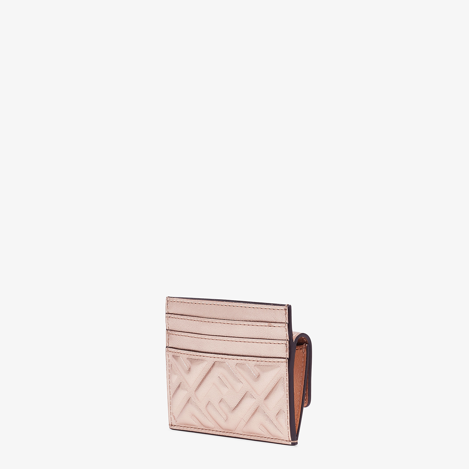 FENDI CARD HOLDER - Pink leather cardholder - view 2 detail