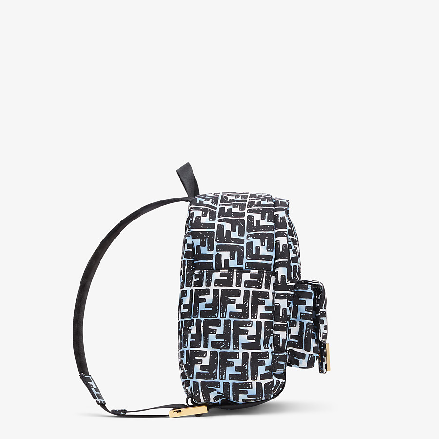 FENDI BAGUETTE BACKPACK - FF print nylon backpack - view 3 detail