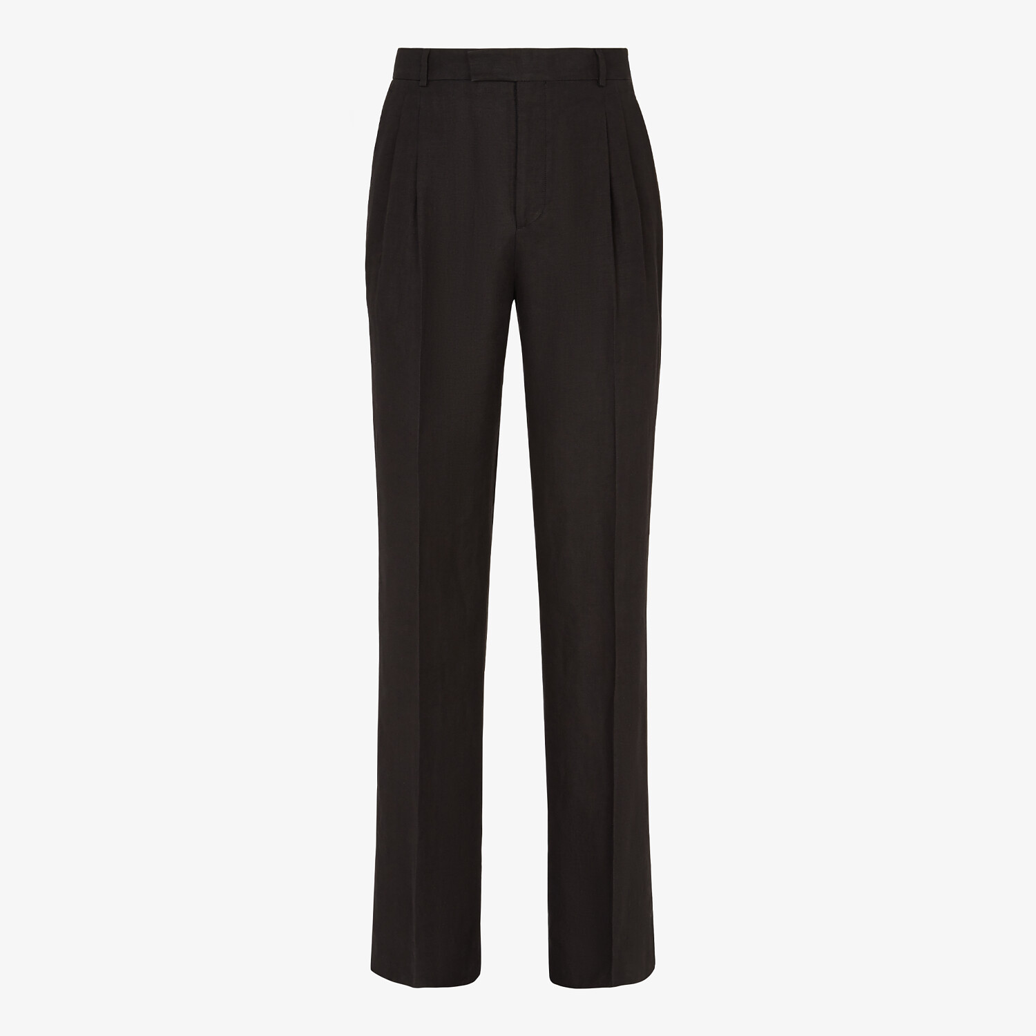 FENDI PANTS - Black hemp fabric pants - view 1 detail