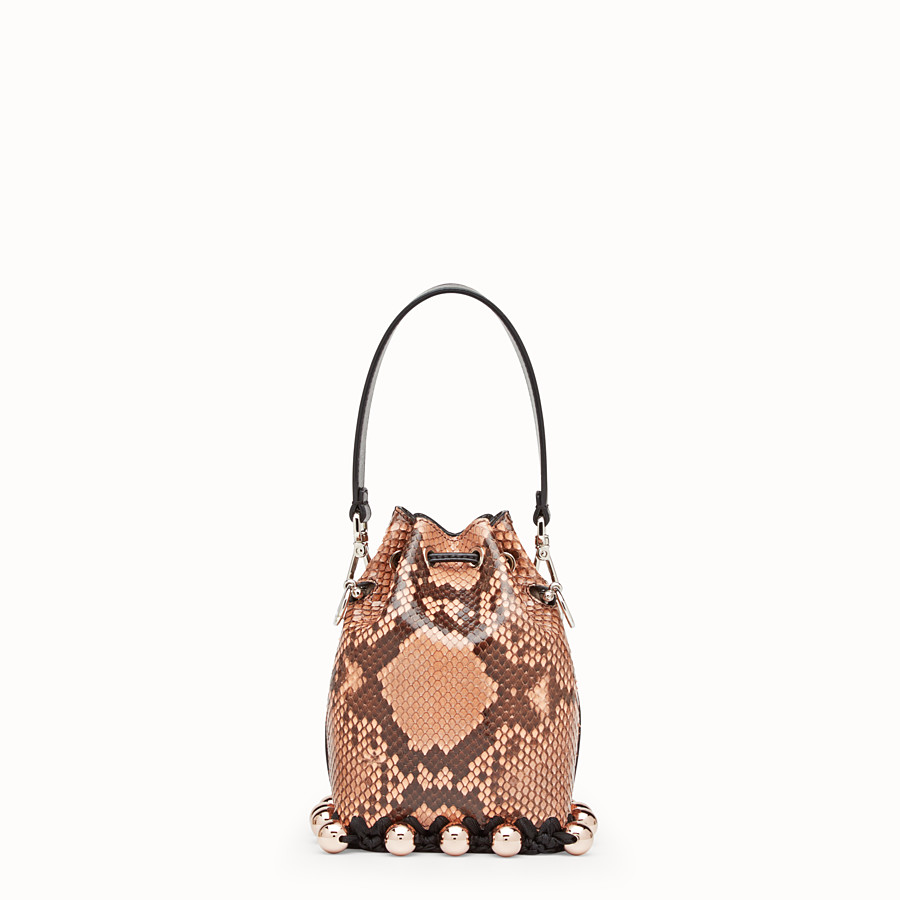 FENDI MON TRESOR - Pink python mini-bag - view 3 detail
