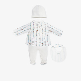 FENDI BABY KIT - Poplin and jersey printed Baby Kit - view 2 thumbnail