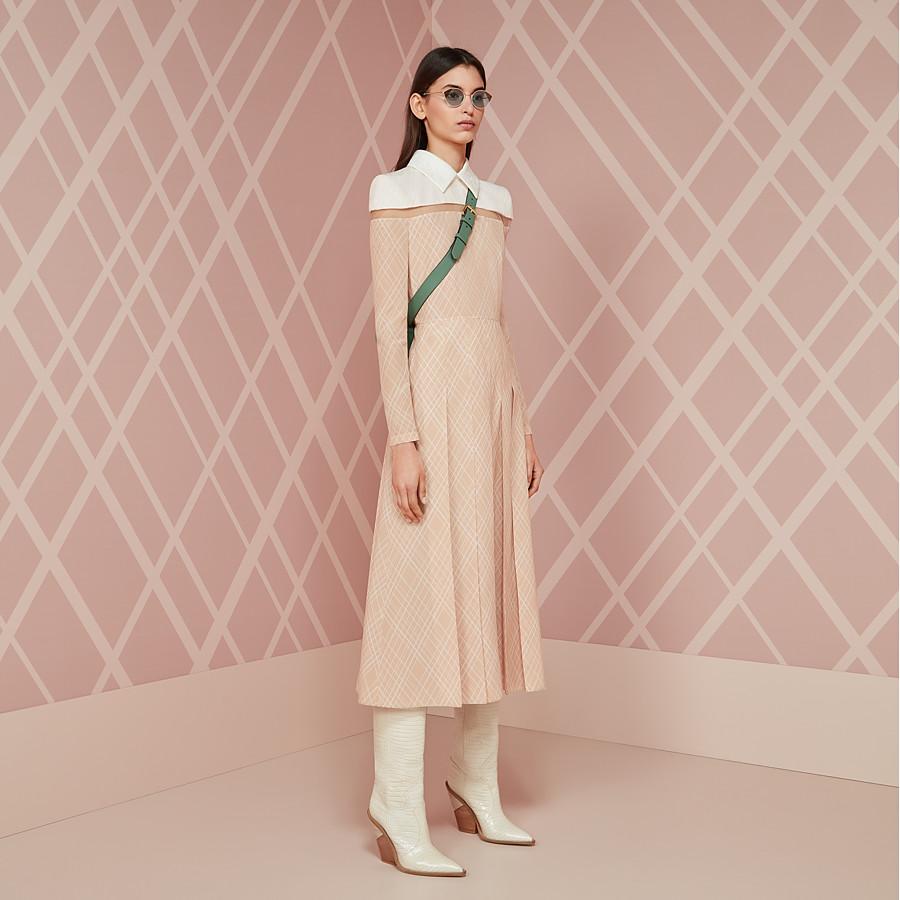 FENDI DRESS - Pink crêpe de Chine dress - view 4 detail