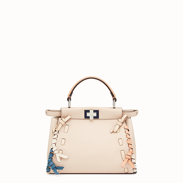 FENDI PEEKABOO MINI - Borsa in pelle rosa - vista 1 thumbnail piccola