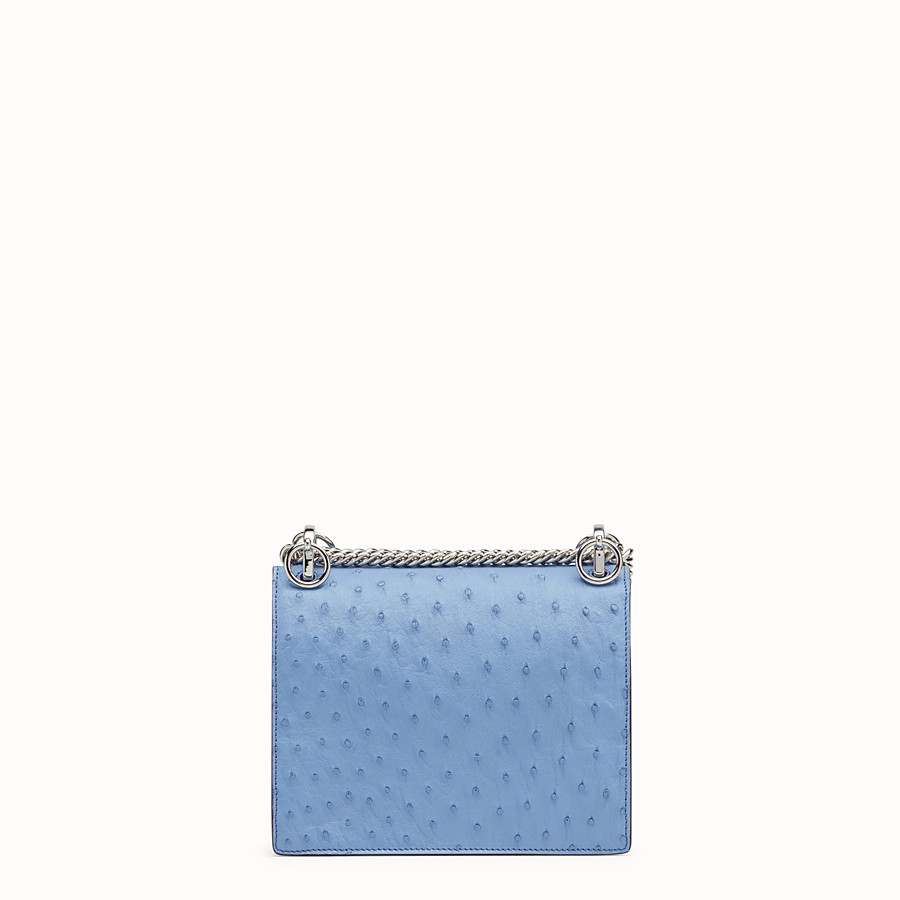 FENDI KAN I SMALL - Light blue ostrich mini-bag - view 3 detail