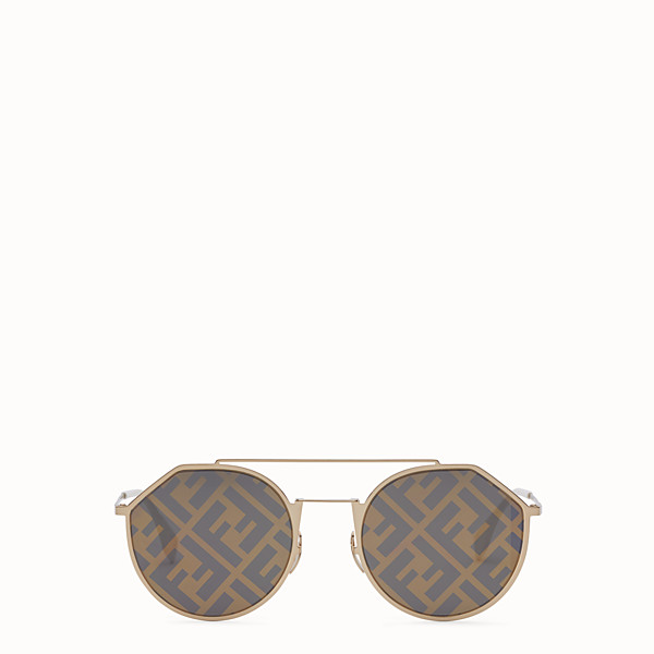 FENDI EYELINE - Gold-color sunglasses - view 1 small thumbnail