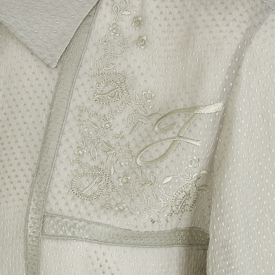 FENDI SHIRT - Green cotton shirt - view 3 detail